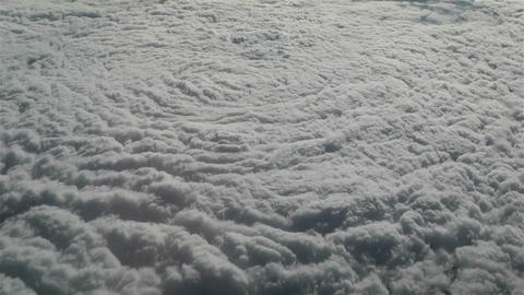 Thunderstorm Clouds from Above 1 Stock Video Footage