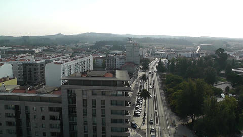 Town near Lisbon Portugal 9 aerial Stock Video Footage