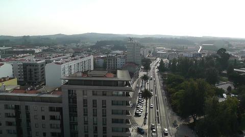 Town near Lisbon Portugal 9 aerial Footage
