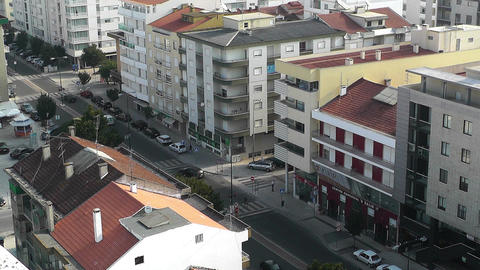 Town near Lisbon Portugal 11 aerial Stock Video Footage