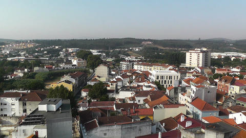 Town near Lisbon Portugal 13 aerial Stock Video Footage