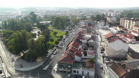 Town near Lisbon Portugal 15 aerial Stock Video Footage