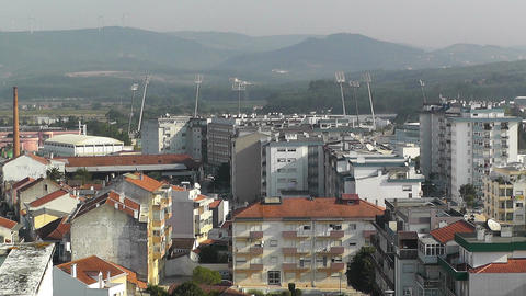 Town near Lisbon Portugal 17 aerial Stock Video Footage