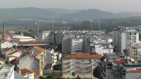 Town near Lisbon Portugal 17 aerial Footage