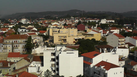 Town near Lisbon Portugal 21 aerial Stock Video Footage