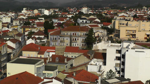 Town near Lisbon Portugal 23 aerial Stock Video Footage