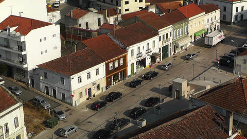 Town near Lisbon Portugal 25 aerial Stock Video Footage