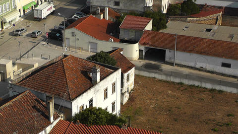 Town near Lisbon Portugal 27 aerial Stock Video Footage