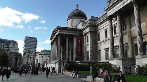 Trafalgar Square London 2 handheld Live Action