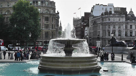 Trafalgar Square London 4 Stock Video Footage