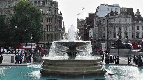 Trafalgar Square London 4 Stock Video Footage