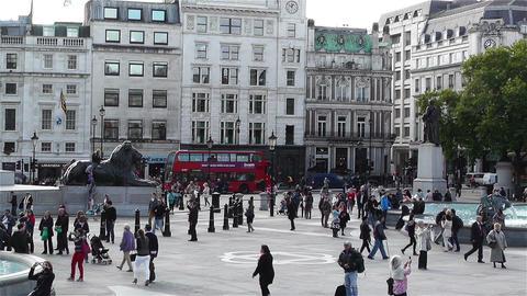 Trafalgar Square London 6 Footage