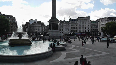 Trafalgar Square London 6 Stock Video Footage