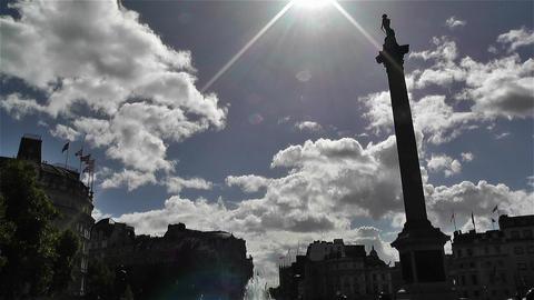Trafalgar Square London 10 Stock Video Footage