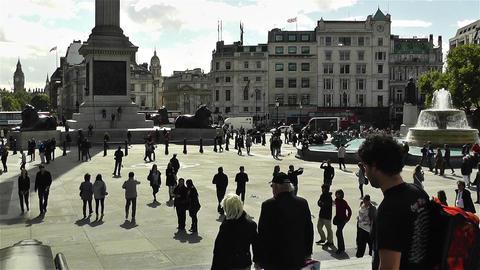 Trafalgar Square London 12 Stock Video Footage