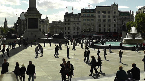 Trafalgar Square London 12 Stock Video Footage