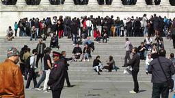 Trafalgar Square London 16 handheld Stock Video Footage