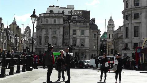Trafalgar Square London 21 Stock Video Footage