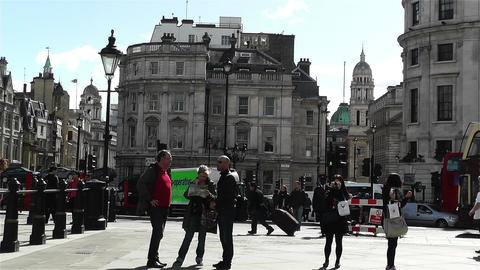Trafalgar Square London 21 Stock Video Footage