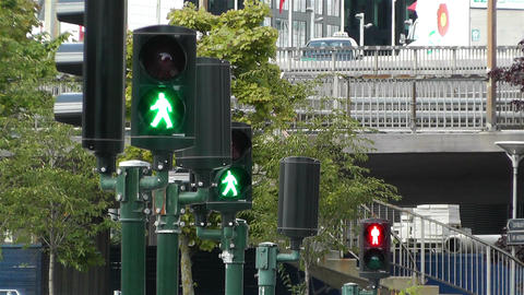 Traffic Lights Turn to Red 1 Stock Video Footage