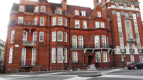 Typical English Building London 1 handheld Stock Video Footage