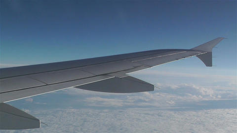 View from Plane during Flight 1 Stock Video Footage