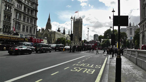 Westminster London British Parliament 1 handheld Stock Video Footage