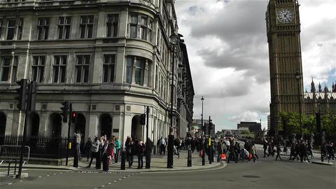 Westminster London British Parliament 6 handheld Stock Video Footage