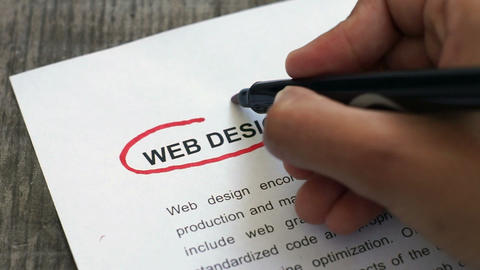 Circling Web Design with a red marker Stock Video Footage