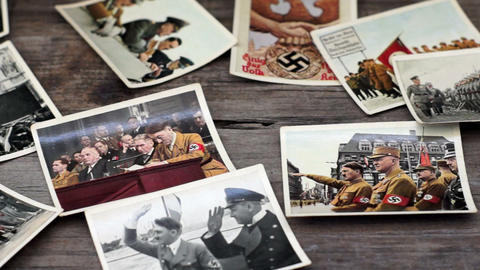 Nazi Cigarette Cards Stock Video Footage