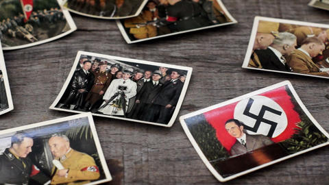 Nazi Cigarette Cards Footage