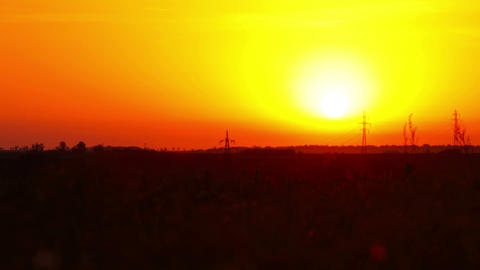 sunrise. summer landscape Footage