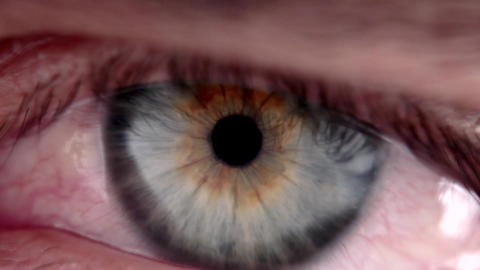 Close-up of a Male's Eye Footage