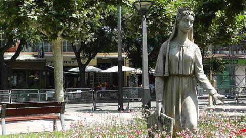 Palamos Street Costa Brava Catalonia Spain 5 Stock Video Footage