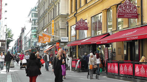 Stockholm Drottniggatan 12 Stock Video Footage