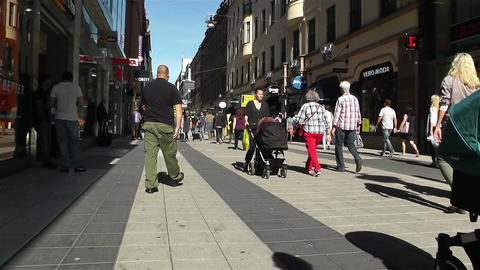 Stockholm Drottniggatan 17 pov native slowmotion Stock Video Footage