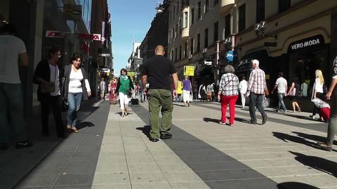 Stockholm Drottniggatan 17 pov native slowmotion Stock Video Footage