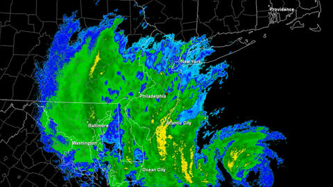 Hurricane Sandy Landfall Time Lapse Stock Video Footage