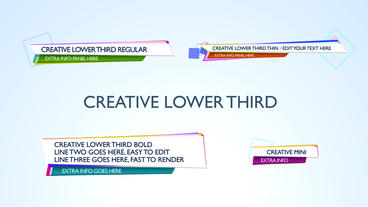 Creative Lower Third - After Effects Template After Effects Project