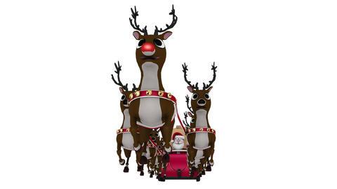 サンタとトナカイ Animation