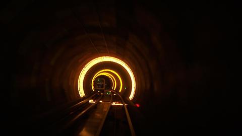 Bund sightseeing tunnel, slow shutter speed Footage