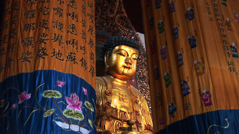 Golden Buddhas Stock Video Footage