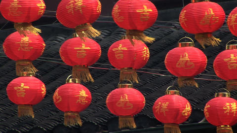Paper Lanterns stock footage