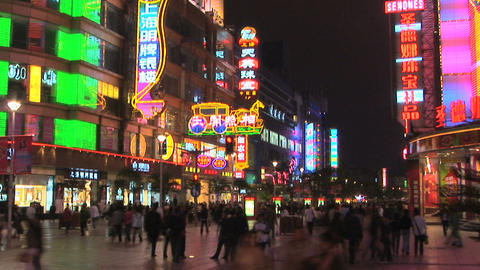 Nanjing Road, time lapse Stock Video Footage