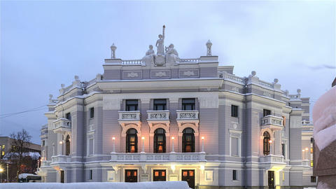 Ekaterinburg State Academic Opera and Ballet Theat Stock Video Footage