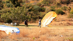TRAINING PARAGLIDE Stock Video Footage
