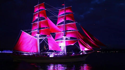 Red Sails stock footage