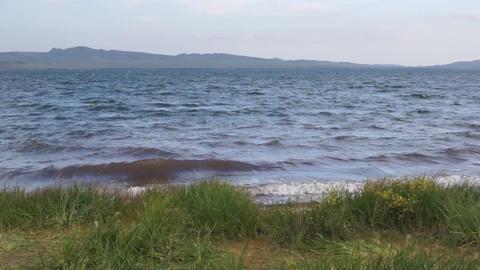 Lake Shira Waves 01 Stock Video Footage