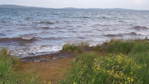 Lake Shira Waves 03 Stock Video Footage