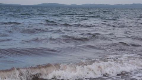 Lake Shira Waves 05 Stock Video Footage